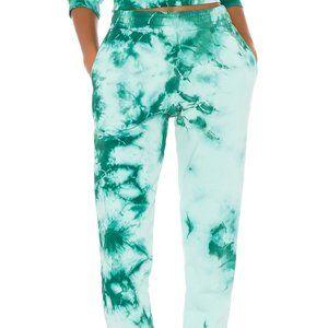 GARAGE Green Tie Dye Joggers